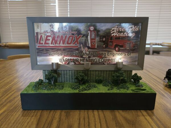 Lennox Crown Premiums LIGHTED 40#x27;s Style Billboard Bank Large 12x8.25x2.375quot; $41.49