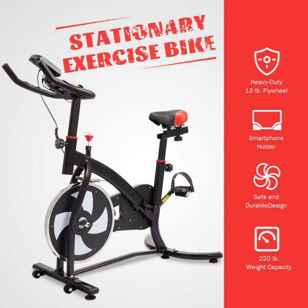 Exercise Bike Indoor Cycling Bike with Adjustable Seat amp; Handlebar for Home Use $159.99