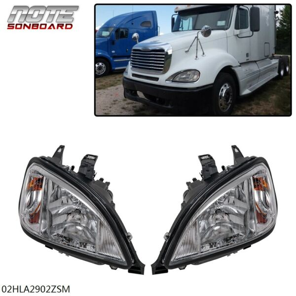 FIT FOR FREIGHTLINER COLUMBIA HEADLIGHT 2004 2017 RIGHT LEFT PAIR SIDE SET