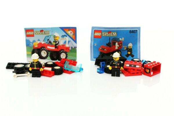 Lego Classic Town Fire Set 6407 Fire Chief 6511 Rescue Runabout instr. 1992