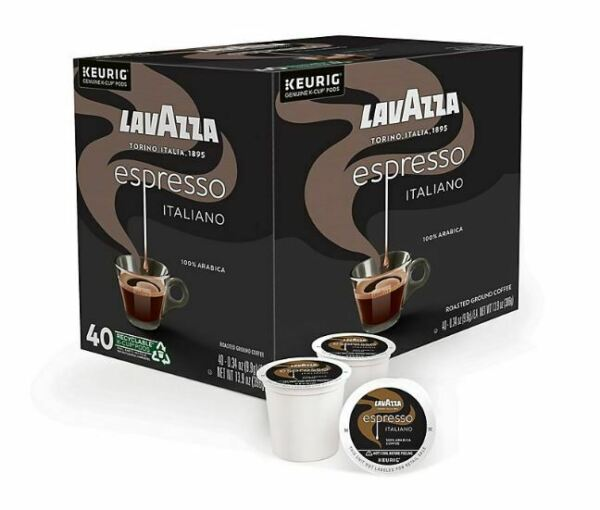 LavAzza Espresso Italiano Coffee K Cups 40 Count