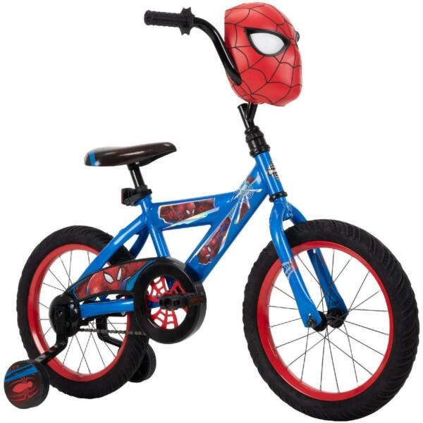 Marvel Spider Man 16 in Boys#x27; Bike for Kids Huffy Bicycle Easy Assemble 4 Blue $275.77