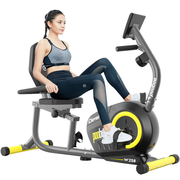 Recumbent Magnetic Exercise Bike Bike Seated Cardio Elliptical Exercise Machine $258.99