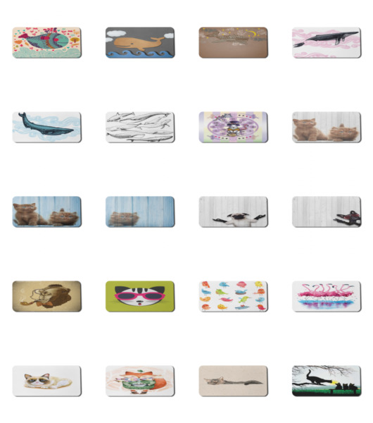Ambesonne Animal Art Rectangle Non Slip Mousepad 35quot; x 15quot; Gaming Size $24.99