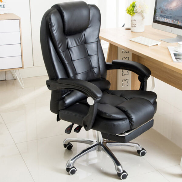 Ergonomic Reclining Massage Office Computer Chair Gaming Chair w Footrest