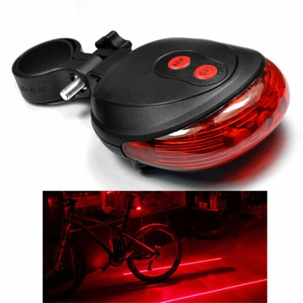 NEW Waterproof Bicycle Accessories Cycling Lights Taillights LED Laser Safety. $6.99