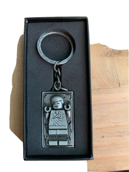 LEGO Star Wars Han Solo Carbonite Metal Keychain 5006363 IN HAND NEW amp; RARE $37.00
