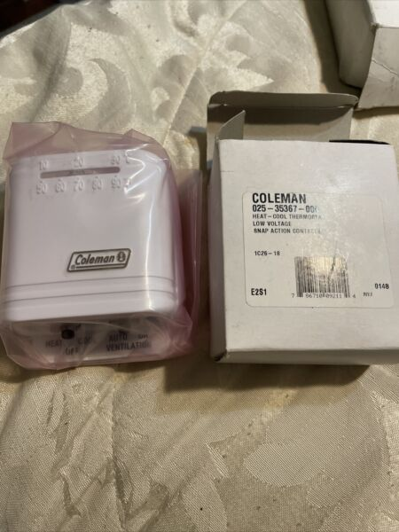 NEW COLEMAN Heat Cool Thermostat Low Voltage Snap Action Contacts 7900 7541 NIB $22.90