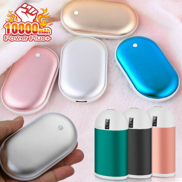 3 in 1 Heater Hand Warmer 10000 mAh Electric Power Bank USB Charger Rechargeable $12.97