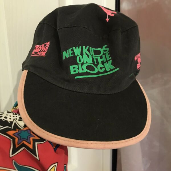 Vintage New Kids On The Block Hat Black