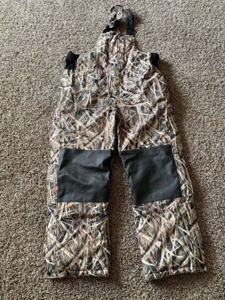 Gamehide Mens Hunting Camo Wetlands Bibs Size Large