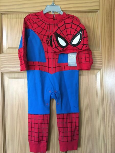 NWT Disney Store Spiderman Baby Costume Romper Avengers Many sizes