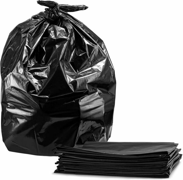 Extra Large Rubbish Garbage Trash Bags 55 Gallon Heavy Duty50 Case w TiesBlack $22.49
