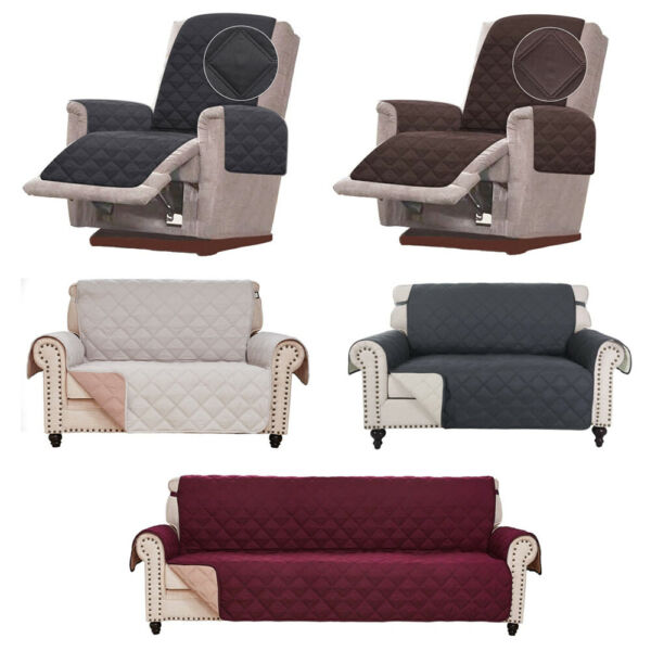 Diamond Chair Recliner Sofa Cover Couch Slipcover Quilted Furniture Protector us $19.99