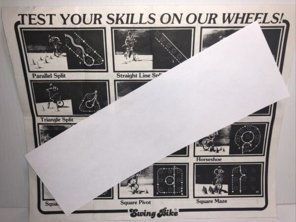 Vintage Bicycle SWING BIKE Riding Skill Sheet C $10.00