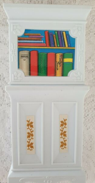 BLUE BOX FURNITURE for BARBIE HOUSE WHITE BOOKCASE EUC $4.59