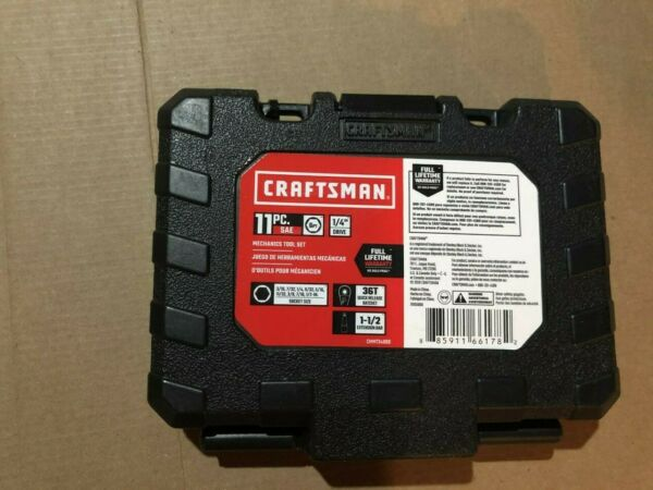 NEW Craftsman 1 4 in. drive SAE 6 Point Socket and Ratchet Set 11 pc.