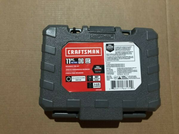 NEW Craftsman 1 4 in. drive Metric 6 Point Socket and Ratchet Set 11 pc.