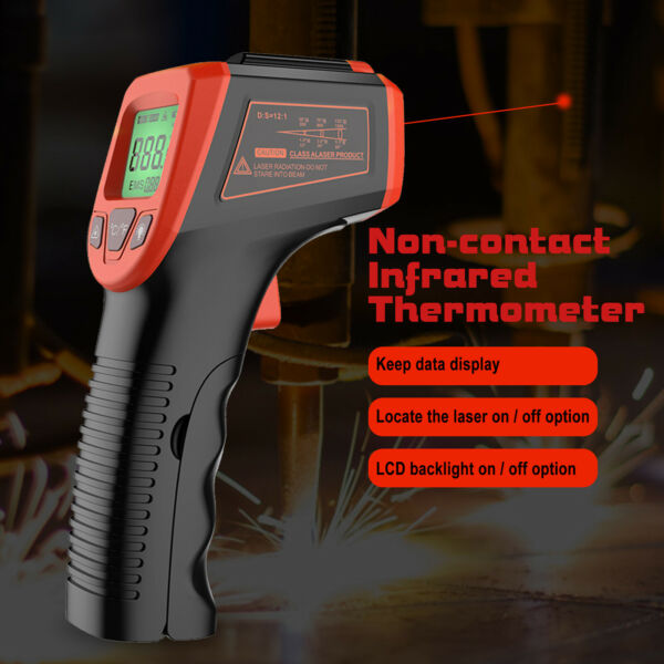 Non Contact Thermometer Temperature Tester Gun Digital IR Laser Thermometer Gun