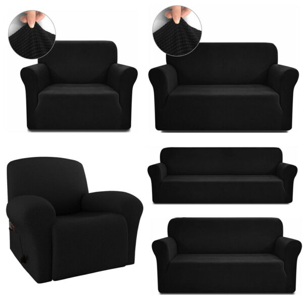 1 2 3 4 Seater Slipcover Chair Recliner Sofa Cover Stretch Couch Cover Protector $31.34