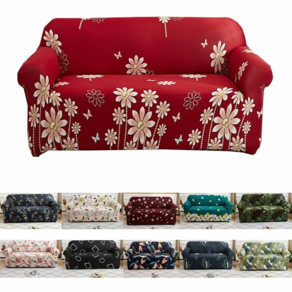 Printed Slipcover Sofa Covers Spandex Stretch Couch Cover Furniture Protectors $9.19