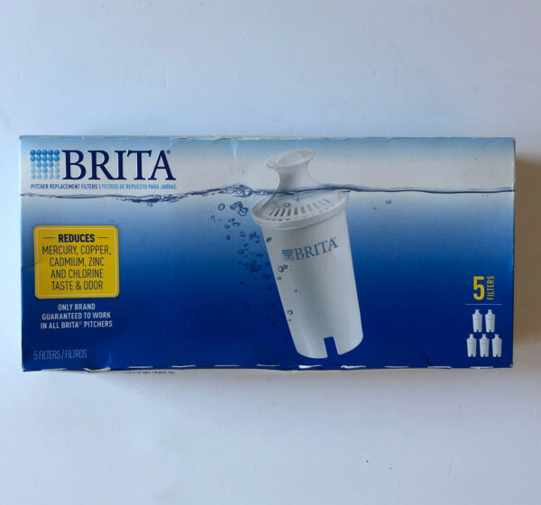 BRITA Pitcher Replacement Filters Box Of 5 NEW