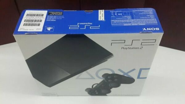 BRAND NEW Sony PlayStation 2 Slim Console Black PS2 System Game NTSC $378.99