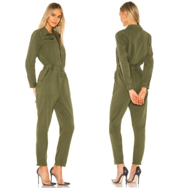 NWT Anthropologie Victor Twill Jumpsuit Utility Boiler Suit Blank NYC Mary Jane $79.99