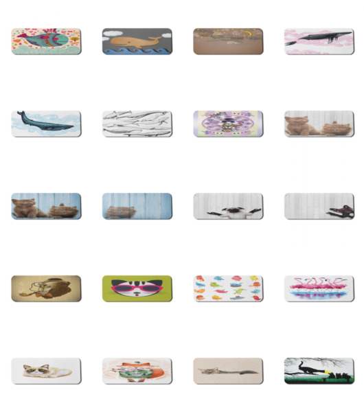 Ambesonne Animal Art Rectangle Non Slip Mousepad 31quot; x 12quot; Gaming Size $21.99