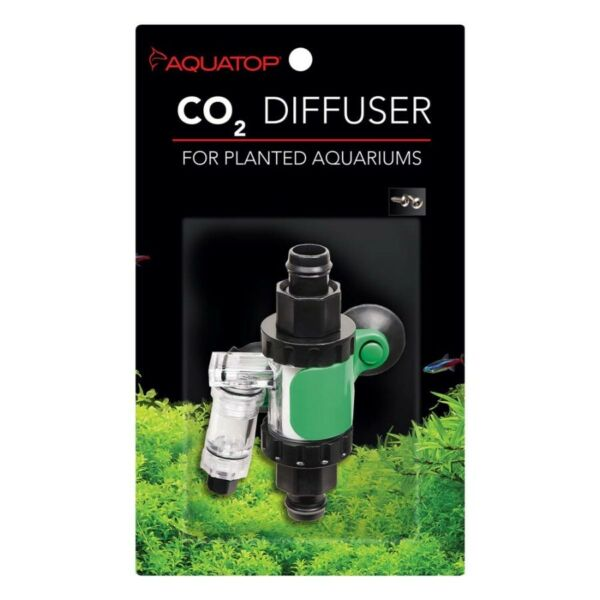 Aquatop In line CO2 Diffuser for Canister Filters Black Green Silver $29.95