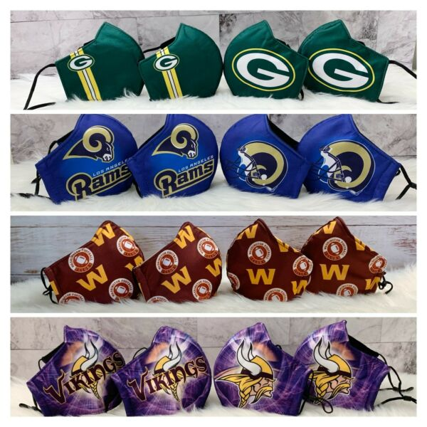 NFL Football Face Mask 4 for $18 SPECIAL $18.00