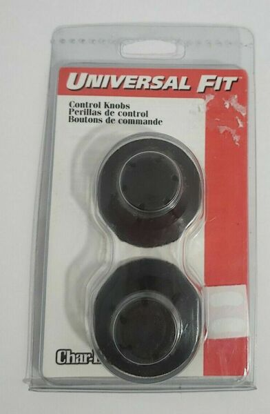1990s CHAR BROIL CERTIFIED GAS GRILL UNIVERSAL FIT KNOB SET 2 CONTROL KNOBS