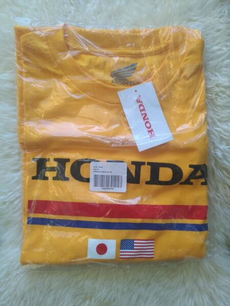 Official Honda Track Racing Gold USA Japan Flag Tee Men#x27;s Size XL NWT