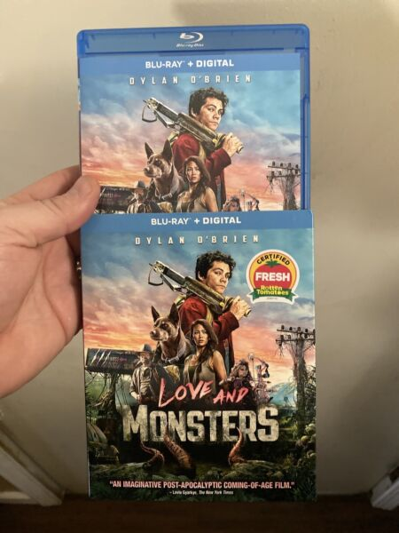 Love And Monsters Blu ray Slip Cover No Digital Disc Never Used $11.99