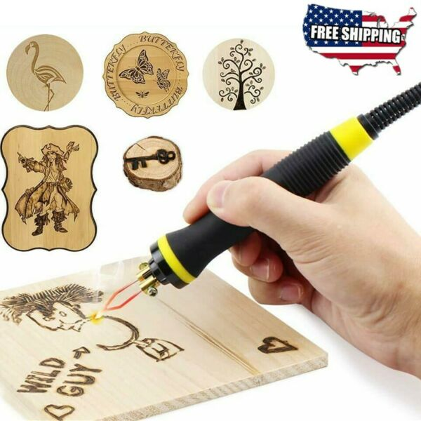 Heat Resistant Replacement Pyrography Pen for 50W Pyrography Machine US