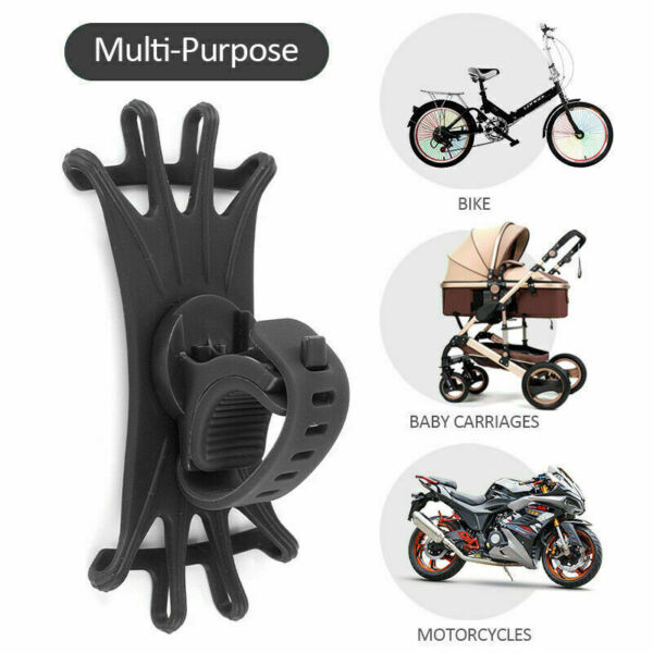 US Universal Bicycle Bike Phone Holder Bracket Mount for Handlebar Scooter $4.01