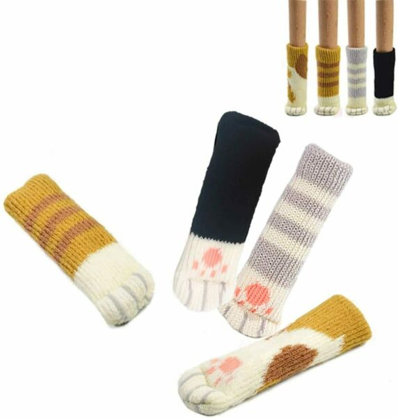 24 PCS Chair Socks with Cute Cat Paw Design Reliable Furniture Floor Protector $18.55