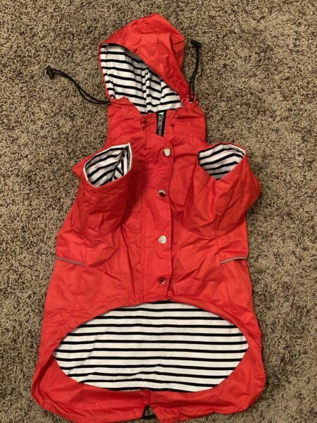 Morezi Dog Zip Up Dog Large Raincoat with Reflective Buttons Rain Water Resista $22.00