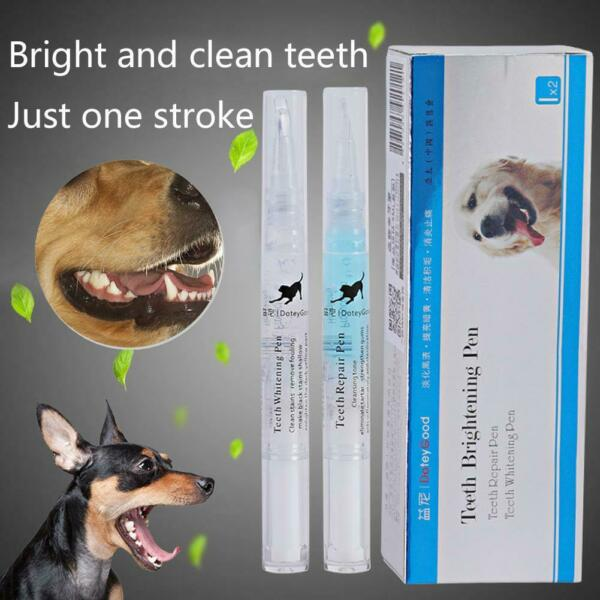 Pets Dog Teeth Cleaning Pen Set Tartar Dental Calculus Remover Stone X6T5 $6.02