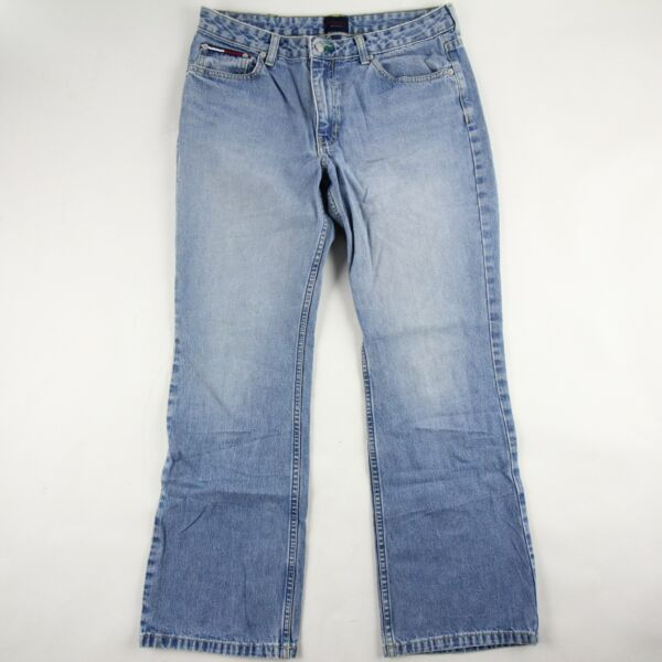 Vintage Tommy Hilfiger Womens Jeans Straight Leg Light Wash Mid Rise Size 11 $32.50