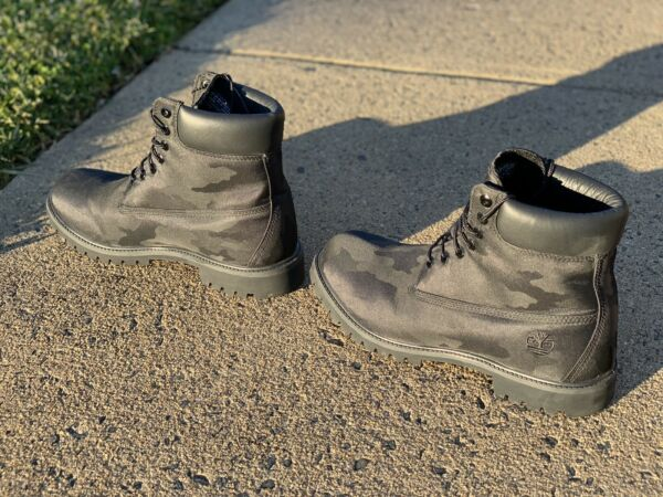 Mens Timberland Black Camo Anti fatigue Boots Size 13 Excellent Condition $95.00