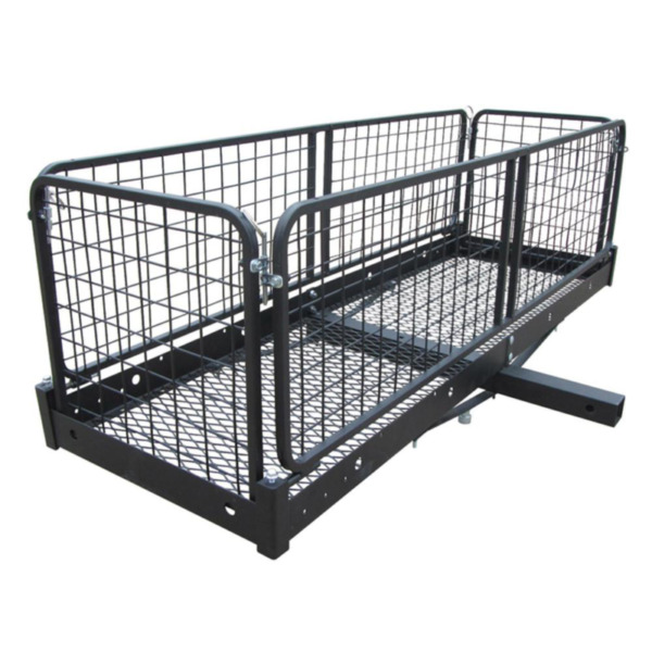 500 lb. Capacity 60 in. x 20 in. Steel Folding Hitch Cargo Carrier for 2 in. Rec $152.76