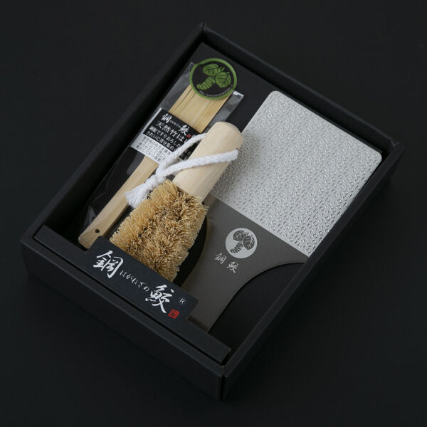WASABI Stainless Grater Haganezame Middle Wasabi Letters Design Made in JAPAN