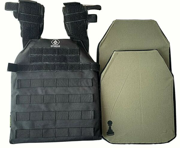 bullet proof vest S XXL body armor With Soft Pawn Armor plates IIIA 10x12 $220.00