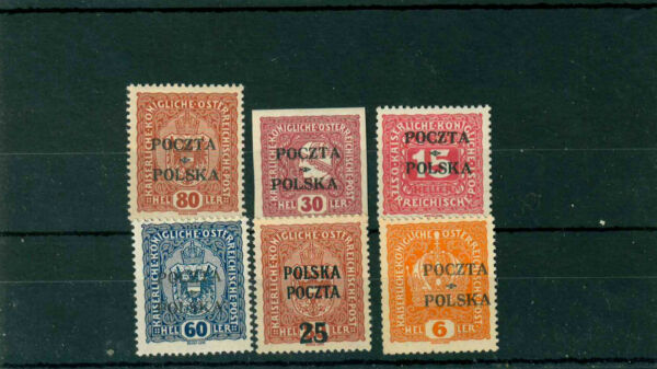 Poland 1919 lot stamps signed by Mikstein MH MNH