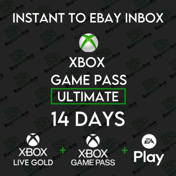14 Day Xbox Game Pass Ultimate Xbox Live GOLD 2 Weeks INSTANT 24 7 $2.89