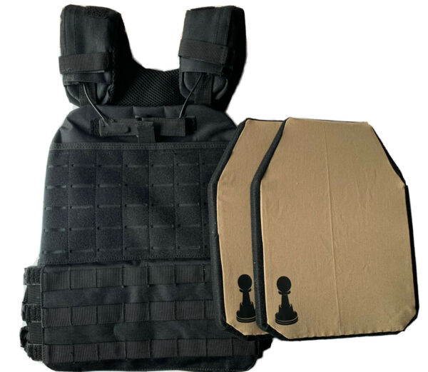 bullet proof vest xs xxl body armor With 2 Soft Pawn Armor plates IIIA 10x12 $223.00