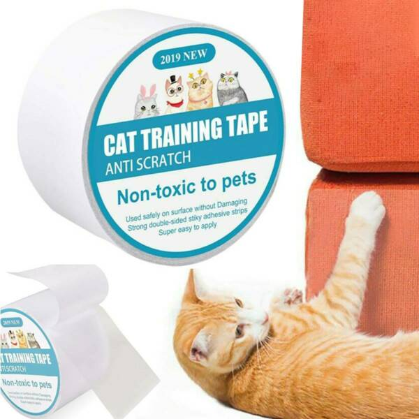 Sofa Guard Stickers Anti Scratch Pet Cat Training Tape Roll Furniture Protector $8.16