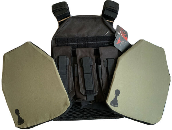 bullet proof vest body armor Soft With Pawn Armor plates IIIA 10x12 S XL $220.00