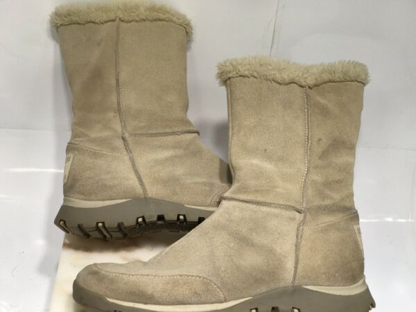 Skechers Women#x27;s Boots Suede Leather Faux Fur Lined Outdoor Winter Boot 9.5 $33.00